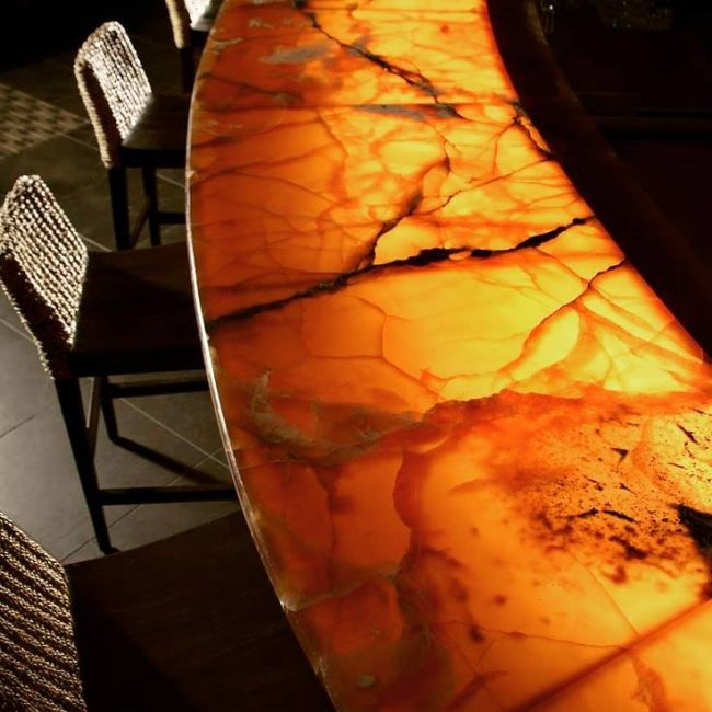 Back-Lit Counter Tops, Shower Walls & Custom Pieces